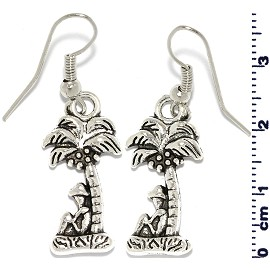 Palm Tree Silver Earring GER566