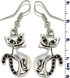 Cat Silver Earring GER568