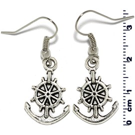 Silver Anchor Earring GER594