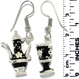 Rhinestone Earrings Silver Ger701