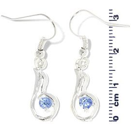 Rhinestone Earrings Light Blue Ger702