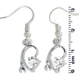 Rhinestone Earrings Gray Ger712