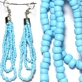 Seed Bead Earrings Turquoise Ger777