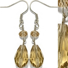 Crystal Earrings Tan Ger924