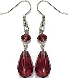 Crystal Earrings Purple Ger931