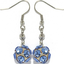 Rhinestone Earrings Light Blue Ger940