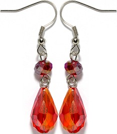 Crystal Earrings Orange Aura Ger950