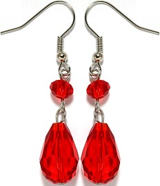 Crystal Earrings Red Ger951