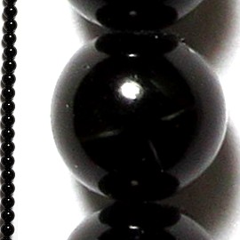 95pcs 4mm Spacers Black Beads JF019