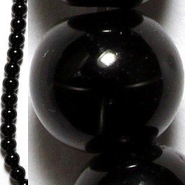 62pcs 6mm Spacers Black Beads JF020