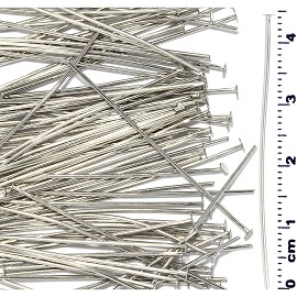 100pcs 44mm Bendable Metal Pin Flat Top Silver Tone JF021