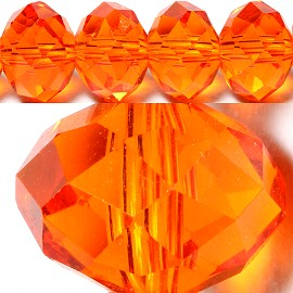 70pcs 10mm Spacers Crystal Beads Orange JF040