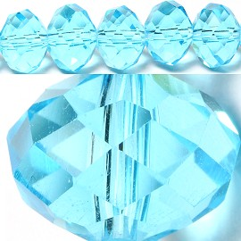 70pcs 10mm Spacers Crystal Beads Sky Blue JF041