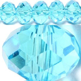 70pcs 8mm Spacers Crystal Beads Sky Blue JF056