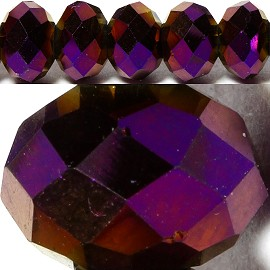 70pcs 8mm Spacers Crystal Beads Dark Purple Solid JF062
