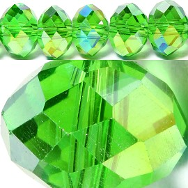 70pcs 8mm Spacers Crystal Beads Green Aura JF066