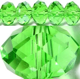 70pcs 8mm Spacers Crystal Beads Green JF067