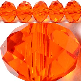 70pcs 8mm Spacers Crystal Beads Orange JF069
