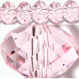 70pcs 8mm Spacers Crystal Beads Pink JF081