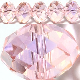 100pc 3mm Spacer Crystal Bead Pink AB JF385