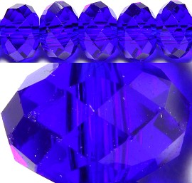 150pcs 4mm Spacers Crystal Bead Royal Blue JF094