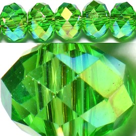 150pcs 4mm Spacers Crystal Beads Green Aura JF100