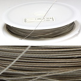Metal String 0.3mm Thick Spool Silver JF1001