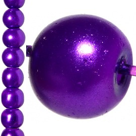 140pc 6mm Faux Pearl Bead Spacer Dark Purple JF1046