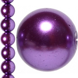 40pc 10mm Faux Pearl Bead Spacer Purple JF1077
