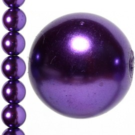 40pc 10mm Faux Pearl Bead Spacer Dark Purple JF1078