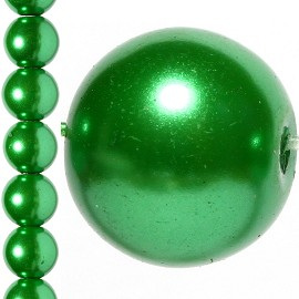 40pc 10mm Faux Pearl Bead Spacer Green JF1080