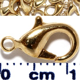 50pc 12x6x3 Lobster Claw Ends 1mm Hole Antique Gold JF1136
