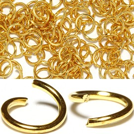 100pc 7mm Metal Links Gold JF1139