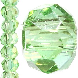 200pc 2mm Crystal Bead Spacer Light Green JF1222