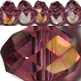100pcs 6mm Spacers Crystal Beads Burgundy Aura JF124