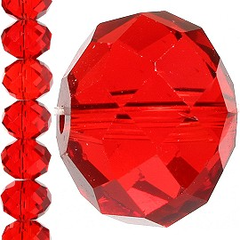 70pc 12mm Crystal Bead Spacer Red JF1244