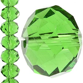 70pc 12mm Crystal Bead Spacer Green JF1248