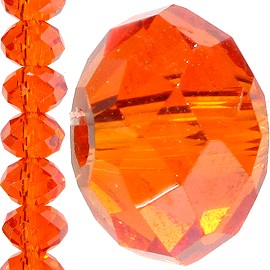100pc 4mm Crystal Bead Spacer Orange JF1261