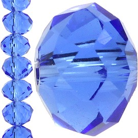 150pc 4mm Crystal Bead Spacer Blue JF1262