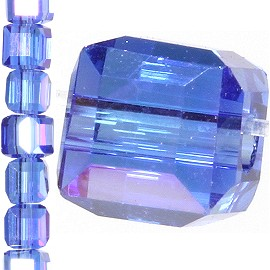 98pc 3mm Crystal Cube Bead Spacer Blue Purple Aura JF1306