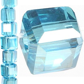 100pc 3mm Spacer Crystal Bead Clear Aura JF378