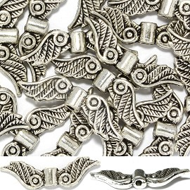 20pc 24x7x4mm Angel Wing Spacer Silver JF1366
