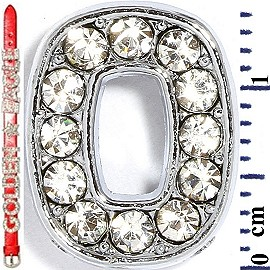 "Rhinestone Spacer 7/16"" Opening-Hole Number - 0 - Silver JF1426"