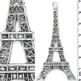 1pc Metallic Large Eiffel Tower Spacer Silver JF1482