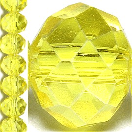65pc 6mm Crystal Bead Spacer Yellow JF1510