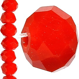 100pc 4mm Crystal Bead Spacer Solid Red JF1517