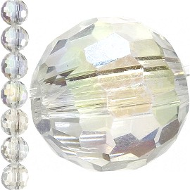 70pc 8mm Round Crystal Bead Spacer Clear Aura JF1566