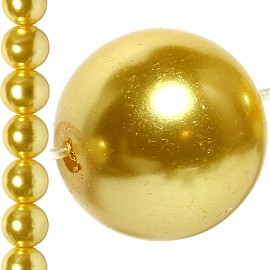 86pc 10mm Faux Pearl Bead Spacer Gold JF1629