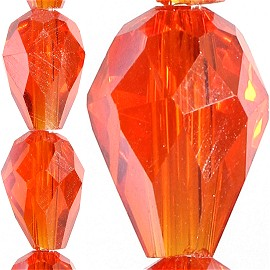 70pc 8x6mm Tear Drop Crystal Bead Spacer Orange JF1635