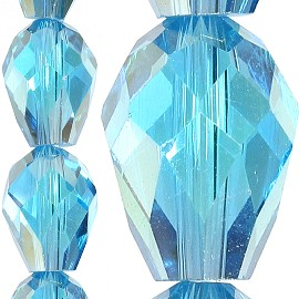 70pc 8x6mm Tear Drop Crystal Bead Spacer Turquoise JF1639
